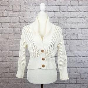 Diane Von Furstenberg cream cropped cardigan
